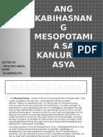 Ang Kabihasnang Mesopotamia Sa Kanlurang Asya (6)