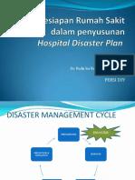 Kesiapan Rumah Sakit Dalam Penyusunan Hospital Disaster Plan