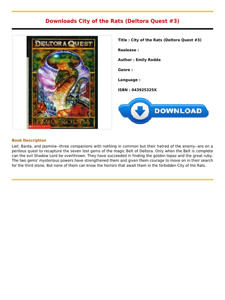 Review City Of The Rats Deltora Quest 3pdf  E Books  Religion And Belief