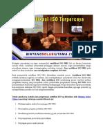 Konsultan ISO Di Bandung | Konsultan ISO 14001 Di Batam | WA +62 857 1027 2813