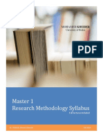 Research Methodology Master 1 Syllabus