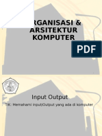 Perkuliahan 6 - Organisasi Dan Arsitektur Komputer - IO