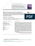 Effects of perceived product quality and Lifestyles of Health and Sustainability (LOHAS) on consumer price preferences for children's furniture in China.pdf