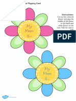 T T 18872 Mothers Day Flap Flower Card