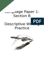 lp1 q5 descriptive writing booklet