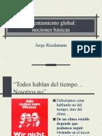 Antropologia - Riechmann - Calentamiento Global -Nociones-básicas