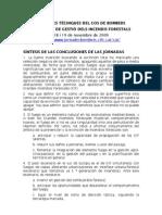 Conclusiones Jornadas Bomberos Cataluña