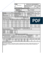 Ficha de Medição Transformador 750KVA
