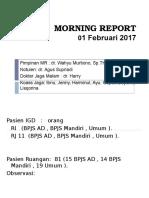 Morning Report 01 Februari 2017
