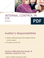 Internal Control in Cis