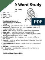 word work unit 9