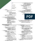 Civil Procedure Checklist
