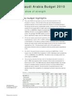 Saudi Arabia Budget 2010