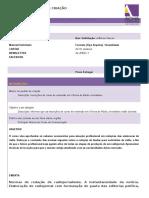Formulário PEDIDO de CRIAÇÃO -Oficina de Rádio Jornalismo