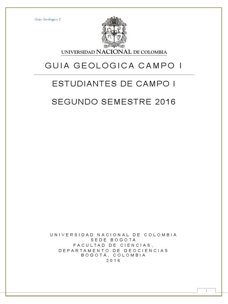 Resultado de imagen de guia geologica de campo universidad nacional colombia