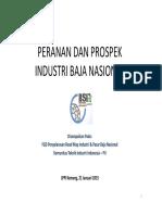 Peranan Dan Prospek Industri Baja Nasional IISIA
