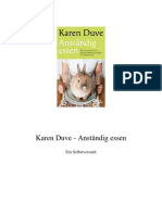 Karen Duve - Anständig Essen