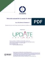 Detección neonatal de la anemia de células falciformes