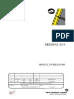 GEOSPAR 2014 MANUEL D'UTILISATION août 2014