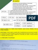Formulario Interés Simple