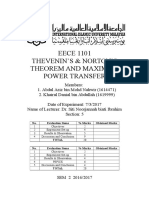 EECE 1101 Cover Page Lab Report