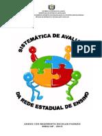 Sistemática de Avaliação - 2015 Final