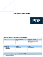 Teaching Organiser Bi Safeizal 2017