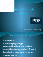 Protons and Atomic Numbers