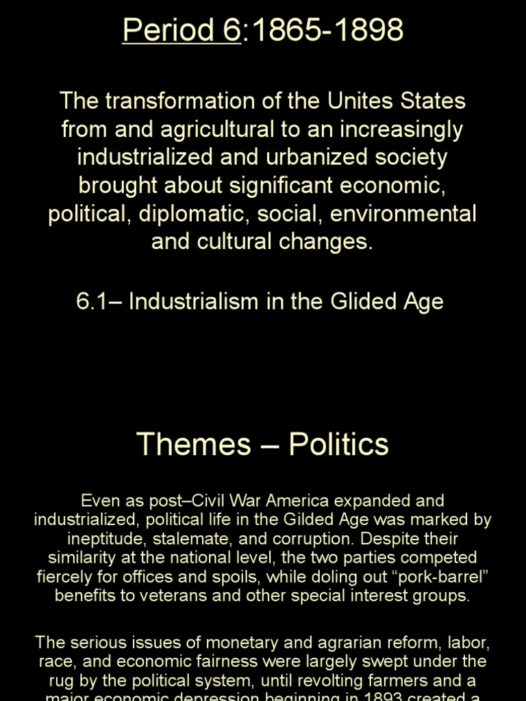 cultural benefits of urbanization in the gilded age