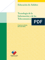 Educación Media Formación Instrumental Tecnología de La Información y de Las Telecomunicaciones