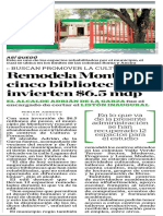 01-03-17 Remodela Monterrey cinco bibliotecas; invierten $6.5 mdp