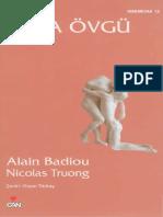Alain Badiou, Nicolas Truong - Aşka Övgü.pdf
