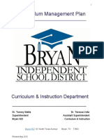 Bryan is d Curriculum Management Plan for Website