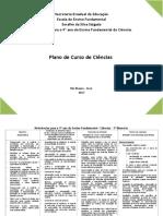 Plano de Curso - Ciências - 9º Ano - 2017
