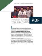 Apuntes de Rabona (2017) PODEMOS o El Futbol Total en La Política