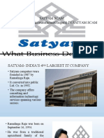 Satyam Scam Ppt