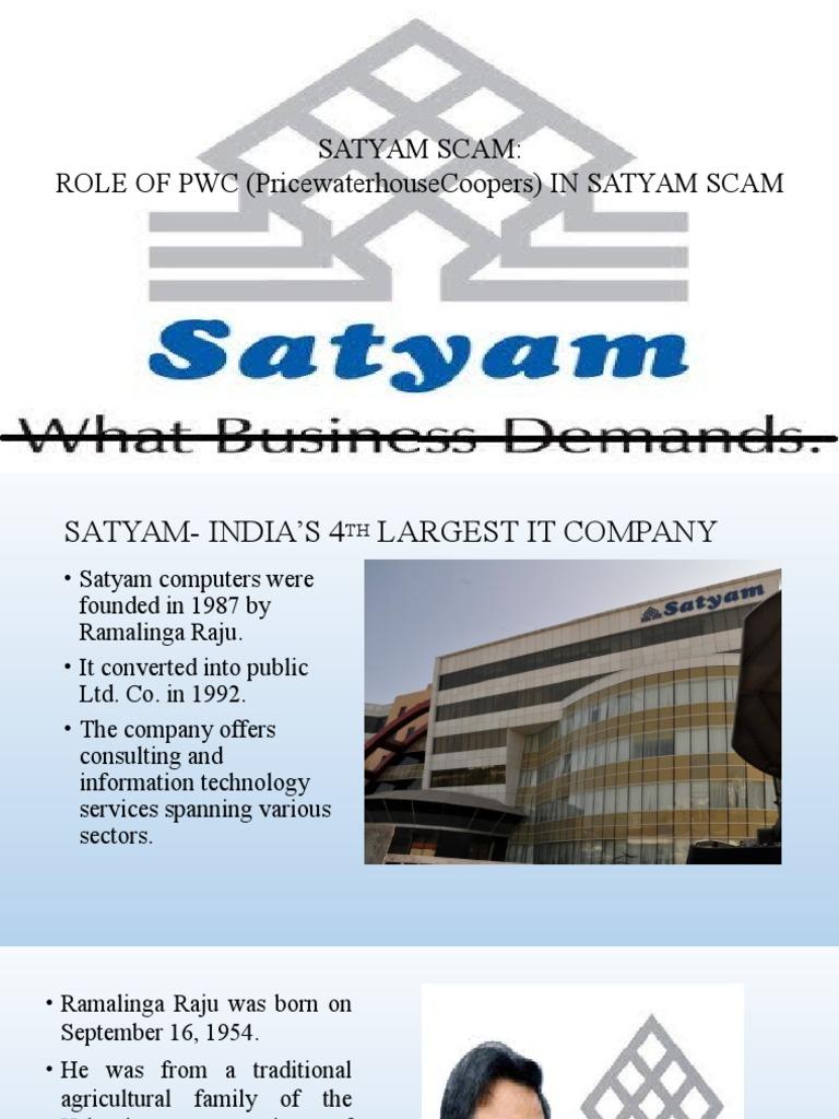 Satyam Scam Pdf Download