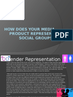 how does your media product represent social groups8 edit