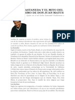 Carlos Castaneda y El Mito Del Chamanismo de Don Juan Matus