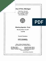 Flint City Council March 13, 2017 Agenda
