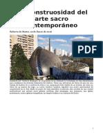 ArteReligioso_RobertoDeMattei_LaMonstruosidadDelArteSacroContemporáneo_Enero2016.docx