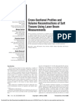 Cross-Sectional Profiles and Volume Reconstructions of Soft Tissues Using Laser Beam Measurements