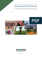 Compte Rendu Technique Activites Agropolis International 2016
