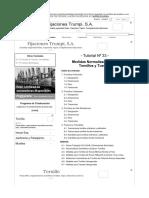 Medidas Normalizadas de Tornillos y Tuercas