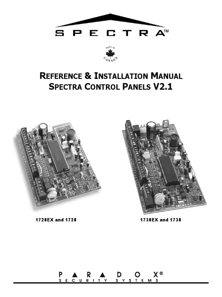 paradox spectra v2 1 1728ex 1728 1738ex 1738 installation manual rh scribd com Installation Guide Installation Guide