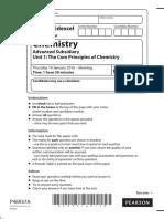 Chemistry 2016 Unit 1 QP