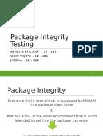 (7) Package IntegrityTesting