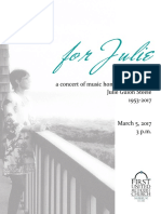 Julie Steele Memorial Concert Program