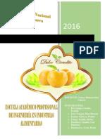 Informe de Mermelada de Mango Ciruelo