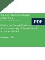 U.S. Army Contracting School - Chalkboard Lesson No. 2